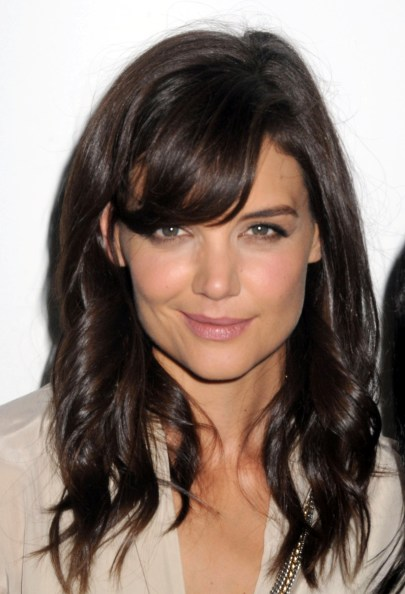 Katie Holmes's Curly Hairstyle With Bangs