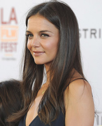 Katie Holmes' Long Straight Hairstyle