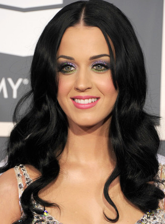 katy perry black hair hue