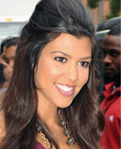 Kourtney Kardashian's Elegant Wavy Half Up Half Down Hairstyle
