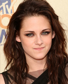 Kristen Stewart Pulled Back Messy Long Hairstyle at 2009 MTV Movie Awards