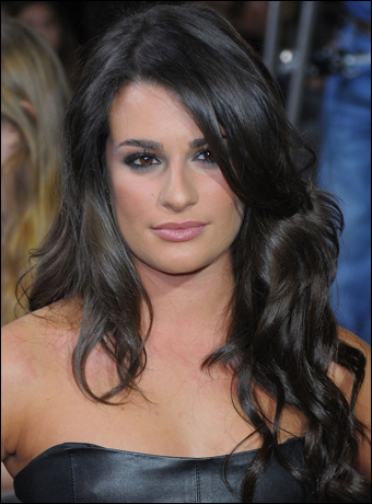 Lea Michele's Long Romantic Hairstyle