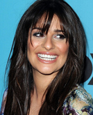 Lea Michele's Long Black Hairstyle