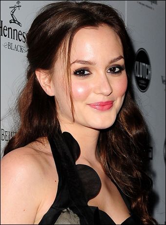cute half up half down hairstyles. Leighton Meester#39;s Half Up