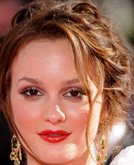 Leighton Meester's Messy Lovely Chignon Hairstyle with  Loss Braid at Emmy Awards 2009