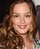 Leighton Meester's Deep Side-parted Wave Hairstyle