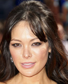 Lindsay Price's Halfway Up Hairstyle with Wave Hairstyle at Emmy Awards 2009
