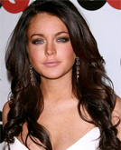 Lindsay Lohan Curly Hairstyle