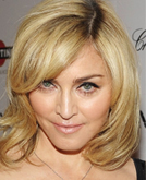 Madonna's Medium Hairstyle with Curls