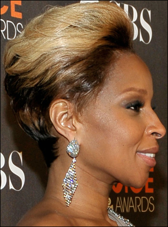 mary j blige hairstyles 2010. Mary J Blige#39;s Pulled Back