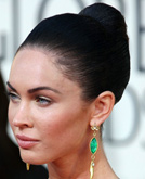 Megan Fox with Slick Back Hairstyle at Golden Globes 2009