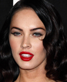 Megan Fox's Vintage Long Curly Hairstyle at Armani Prive Pretty