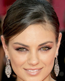 Mila Kunis's Low Ponytail Hairstyle at Emmy Awards 2009