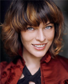 Milla Jovovich with Short Curly Hairstyle