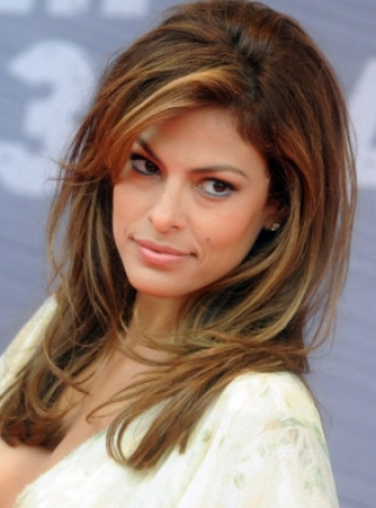eva mendes hairstyles. Eva Mendes#39; Highlighted