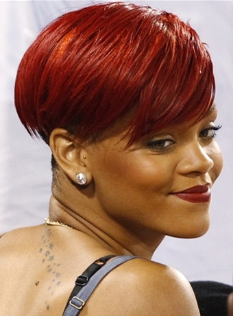 rihanna red hair cuts