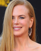 Nicole Kidman's Side-parted Long Straight Hair at the the American Music Awards