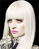 Nicole Richie White Straight Hair with Bangs from BlackBook Magazine