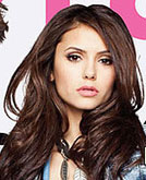 Nina Dobrev's Long Brwon Curly Hairstyle