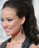 Olivia Wilde's High Ponytail Hairstyle at 2010 Golden Globe Awards