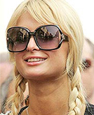 Kimberly Stewart and Paris Hilton with Loose Wispy Bangs