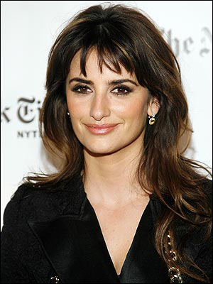 Penelope Cruz Layered Bangs. With a long or angular face, long hair can make