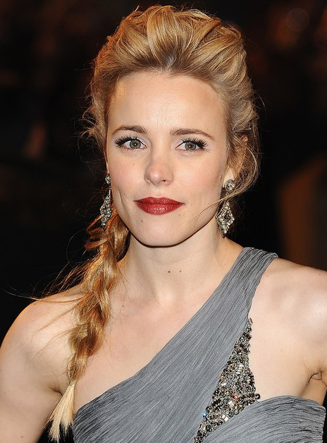 Rachel Mcadams S Lovely Low Braided Hairstyle