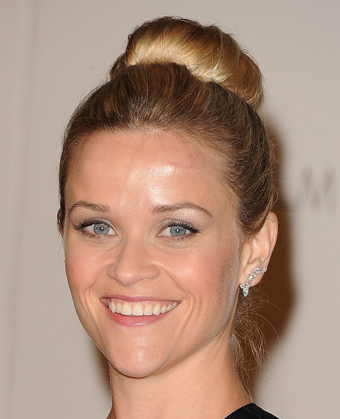 Reese Witherspoon's Sleek Top Knot Hairstyle