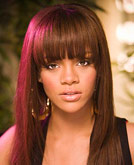 Rihanna's Sleek Straight Hairstyle