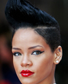 Rihanna's Fashion-forward Short Hairstyle