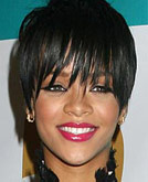 Rihanna with Short-n-Smooth Hairstyle