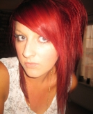 messy red hairstyle