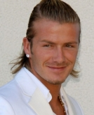 David Beckham's Long Hairstyle