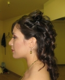 A Romantic Wedding Hairstyle for Long Hair