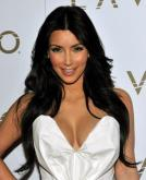 Kim Kardashian's Long Black Straight Hairstyle