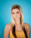 Model Haistyle-Straight Long Layered Hairstyle