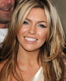 Abbey Clancy's Long Layered Shaggy Hairstyle