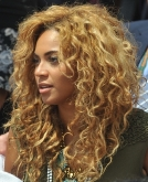 Beyonce's Casual Curly Hairstyle
