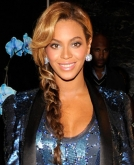 Beyonce Knowles' Sexy Braided Hairstyle