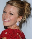 Blake Lively's Messy Bun Hairstyle