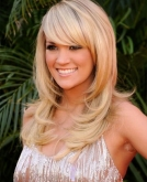 Carrie Underwood's Straight Hairstyle with Bangs