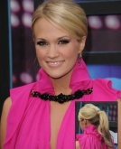 Carrie Underwood's Sleek Blonde Ponytail