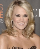 Carrie Underwood's Medium Blonde Wavy Hairstyle