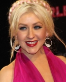 Christina Aguilera's Pink Braided Hairstyle