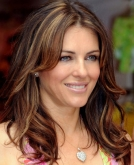 Elizabeth Hurley's Long Highlighted Hairstyle