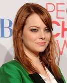 Emma Stone's Simple Straight Hairstyle