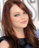Emma Stone's  Straight Hairstyle With Bangs