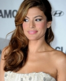 Eva Mendes's Side-Swept Wavy Hairstyle