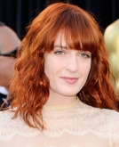 Florence Welch's Red Curly Hairstyle