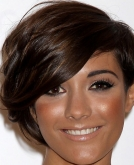 Frankie Sandford's Trendy Asymmetrical haircut